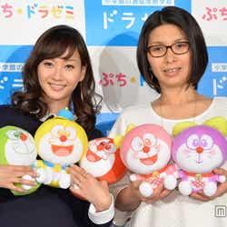藤本美貴(左)、くわばたりえ(右)