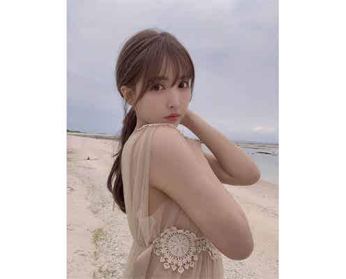 """三上悠亜、注目の写真集から「人形みたいで可愛い」美肌かがやく""""美麗""""オフショット公開"""