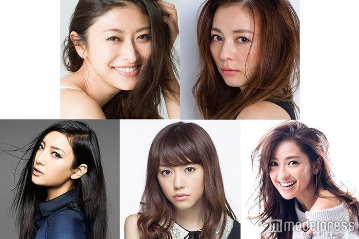 「TGC2016S/S」に出演する(左上から時計回りに)山田優、香里奈、中村アン、桐谷美玲、菜々緒