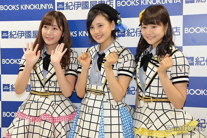 NGT48への本音を明かした(左から)多田愛佳、兒玉遥、穴井千尋【モデルプレス】