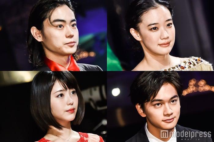 (左上から時計回り)菅田将暉、蒼井優、北村匠海、浜辺美波(C)モデルプレス