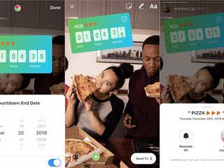 Instagram、ライブ動画機能に2つの新ツール カウントダウンスタンプも登場