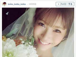 元「Ranzuki」ちんぱん、入籍&挙式を報告 純白ウェディングドレス姿で「本当に幸せ」