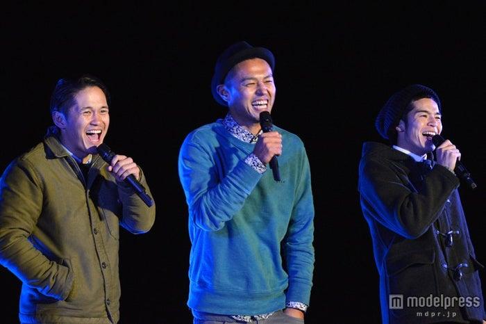 (左から)宮城大樹、今井洋介さん、菅谷哲也