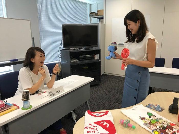 戸部洋子アナ、長野放送の戸田山貴美アナウンサー(提供写真)
