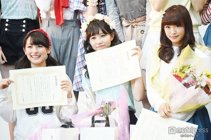 ピチレモンを卒業した(左から)森高愛、長崎すみれ、山口乃々華