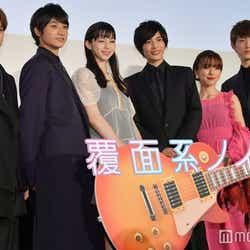 (左から)磯村勇斗、小関裕太、中条あやみ、志尊淳、真野恵里菜、杉野遥亮(C)モデルプレス
