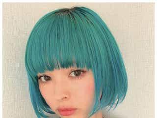 """青髪の最上もが、セルフカラーの次はセルフカット """"ぱっつん前髪""""に絶賛の声"""