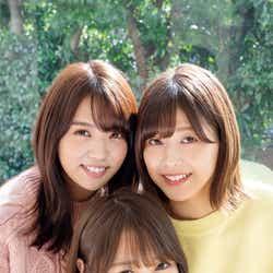 (左から)小林由依、菅井友香、渡邉理佐(C)佐藤佑一 /ヤングマガジン