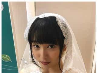 桜井日奈子、胸元あらわな純白ウェディングドレス姿を披露「キレイ」と絶賛の声