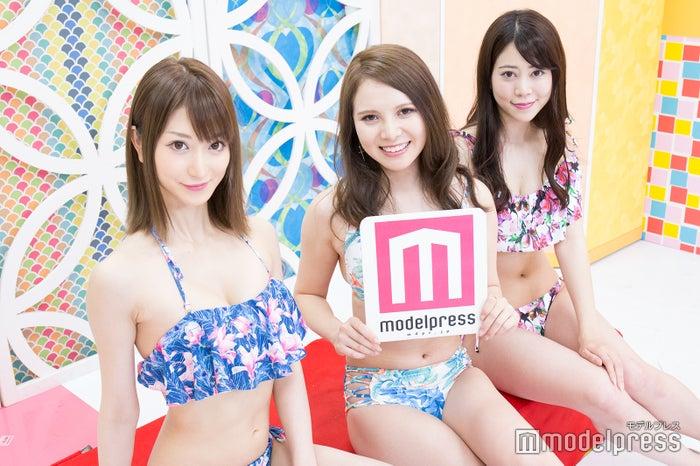 (左から)松山英礼奈、蘭、薄井美樹(C)モデルプレス
