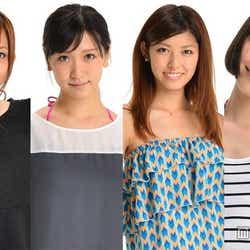 「ViVi」専属モデルオーディションの第1次選考を通過したアイドリング!!!メンバー(左から)菊地亜美、横山ルリカ、橘ゆりか、佐藤ミケーラ倭子