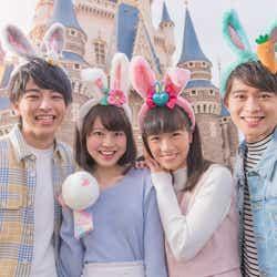 """""""うさみみ""""カチューシャ、ヘアゴム  (C)Disney"""