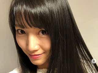 三田友梨佳アナ、黒髪ストレートにイメチェン 前髪もバッサリ