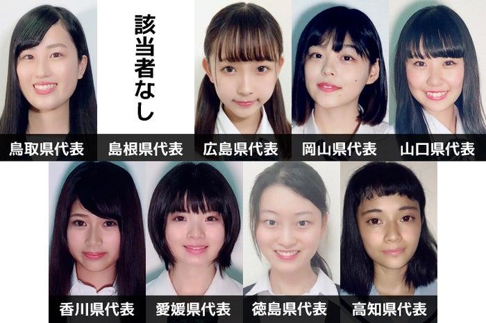 「女子高生ミスコン2018」中国・四国エリア都道府県代表