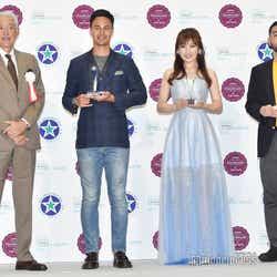 (左2番目から)ユージ、熊田曜子、小泉智貴氏(C)モデルプレス