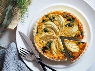 冷凍パイシートで簡単にできる!菜の花&玉ねぎのキッシュのレシピ