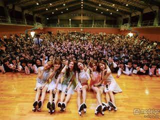 """""""6人の妖精""""Apink、高校の全校集会でサプライズLIVE 学生の夢を実現"""