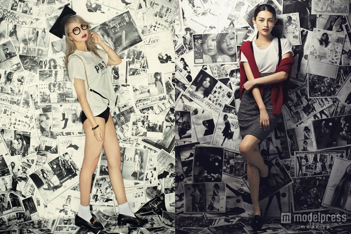 「BLENDA」モデルとして活躍していた井出レイコ&渡辺知夏子/「BLENDA」9月号より(画像提供:角川春樹事務所)