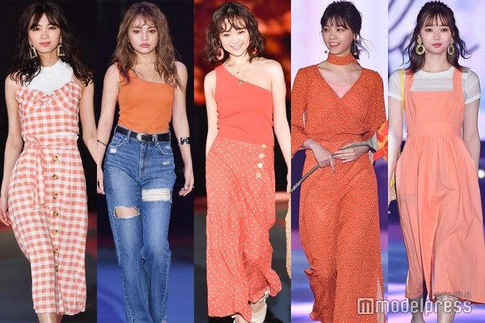 左から:岡崎紗絵、ちぃぽぽ、安達祐実、西野七瀬、江野沢愛美(C)モデルプレス