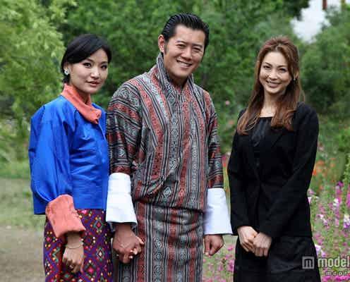押切もえ、ブータン国王・王妃陛下と3ショット 日本人タレント初の快挙