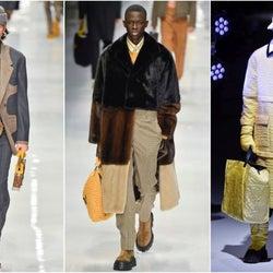 「フェンディ」20~21年秋冬ミラノ・メンズコレクション 多彩に見せる様々な男のスタイル