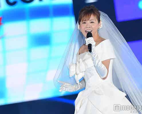 高橋真麻、純白ウェディングドレスでサプライズ歌唱 結婚時期に言及<GirlsAward 2017 A/W>