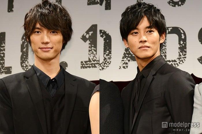 福士蒼汰(左)への溺愛ぶりを覗かせた松坂桃李(右)【モデルプレス】