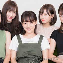 「ミス立教」ファイナリスト/左から:西村春香、前原澄鈴、鴻野加奈、京徳果音、西村香也子(C)モデルプレス