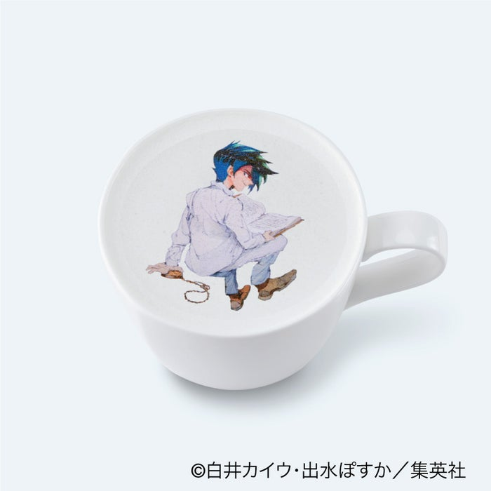 レイのカフェラテ850円(C)白井カイウ・出水ぽすか/集英社
