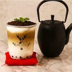 盆栽ほうじ茶タピオカラテ/画像提供:ポトマック
