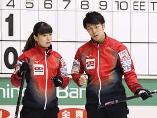 前回優勝の松村、谷田組が敗れる カーリング、混合ダブルス選手権