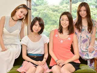 「常にパンチラしてる」美女4人が「女子高」の舞台裏を明かす モデルプレスインタビュー