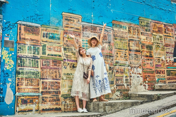 近くのGraham Street(嘉咸街)には、インスタ映えスポットで有名な壁画もあり(C)モデルプレス