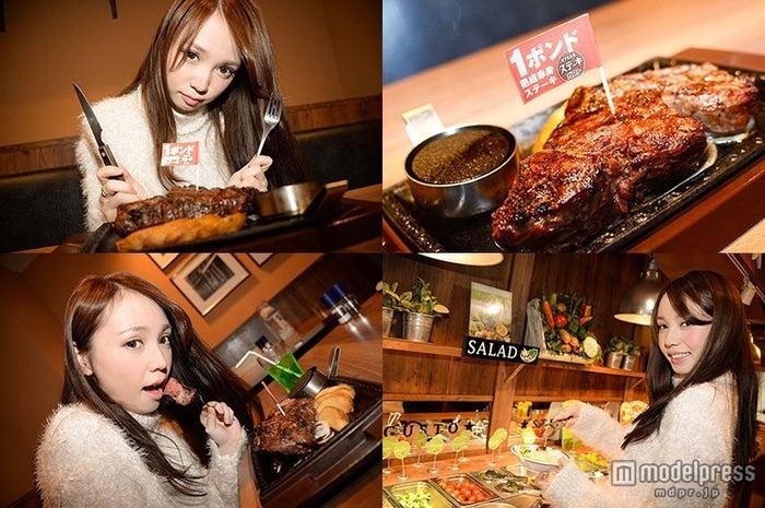 巨大熟成肉に女子が虜!プチプラ&至福の美味しさに感動/モデル:黒瀧まりあ【モデルプレス】