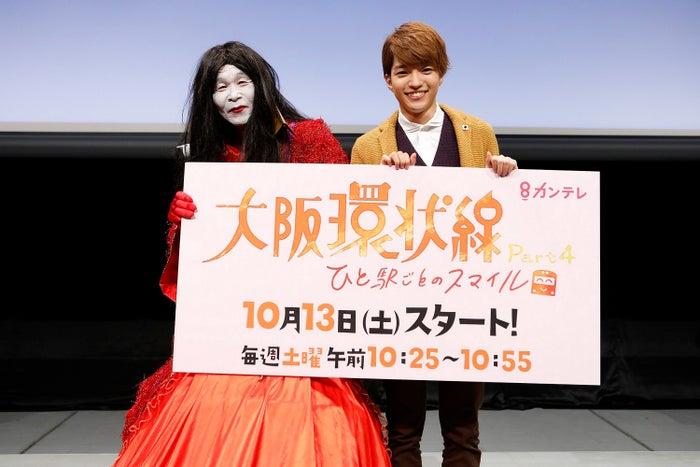 (左から)間寛平、西畑大吾(画像提供:関西テレビ)
