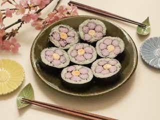 春のイベントにぴったり!お花の巻き寿司