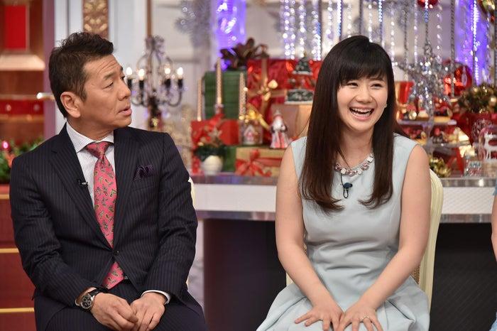 上田晋也、福原愛(C)日本テレビ