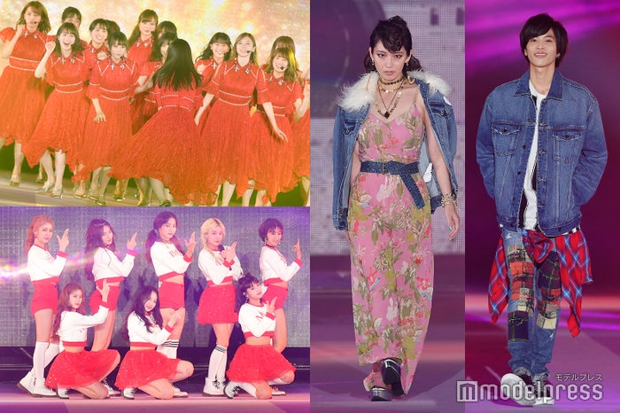 (左上から時計回りに)乃木坂46、吉岡里帆、志尊淳、MOMOLAND(C)モデルプレス