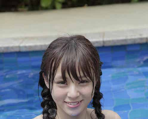 「LARME」モデル佐藤麗奈、水着・メイド・浴衣…ピュアな美貌際立つ