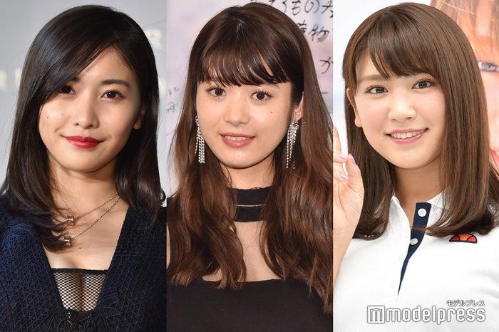 (左から)佐野ひなこ、馬場ふみか、久松郁実 (C)モデルプレス