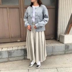 くすみカラーがかわいすぎる♡GU「コーデュロイジャケット」プチプラには見えないデザインだ…!