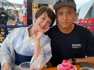 田中美保、夫・稲本潤一選手の誕生日を2ショットで報告「優しい夫」
