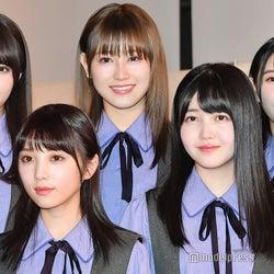 (下段左から)与田祐希、久保史緒里(上段左から)小林由依、守屋茜、柿崎芽実 (C)モデルプレス