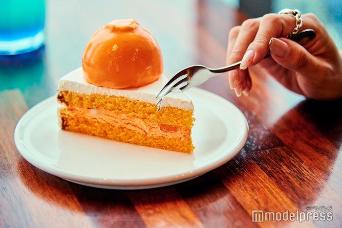 まるでミカンが丸ごと乗っているかのようなハンラボンケーキ(C)モデルプレス
