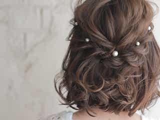 【結婚式】お呼ばれヘアアレンジ♡シンプルで上品なミディアムの髪型