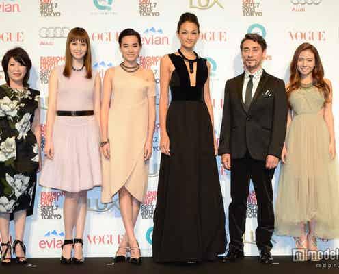 冨永愛、May J.らが華やかドレスで表参道に集結 「VOGUE」主催ファッションの祭典