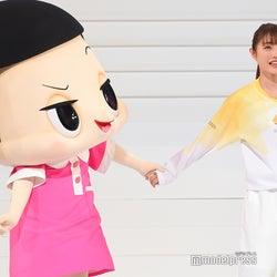 石原さとみ、チコちゃんに叱られて大喜び 「東京2020パラリンピック」聖火ランナーユニホームもお披露目