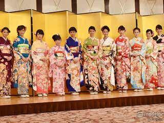 武井咲、剛力彩芽ら美女11人が華やか晴れ着で豪華集結