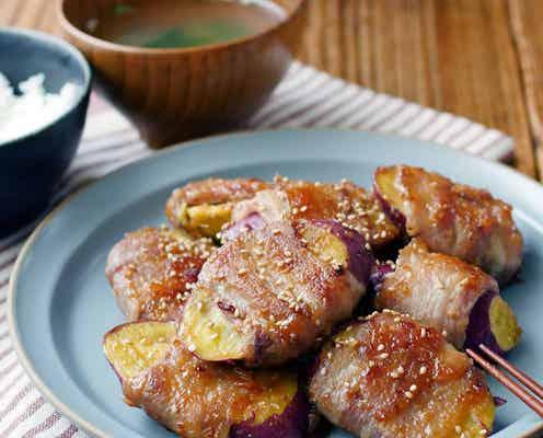夕飯のおかずに。肉巻きさつまいものみそ照り焼き